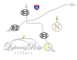 Map to Lightning Ridge Cellars in Elgin, AZ